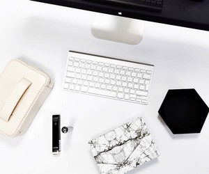 white, apple, and style image