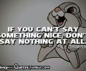 quote, disney, and thumper image