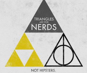 nerd, triangle, and harry potter image