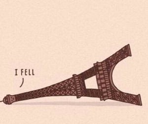 eiffel tower, france, and funny image