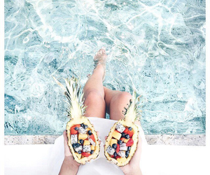 summer, fruit, and water image