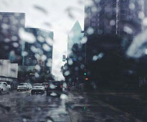 city life, cloudy, and dark image