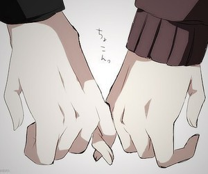 love, anime, and hands image