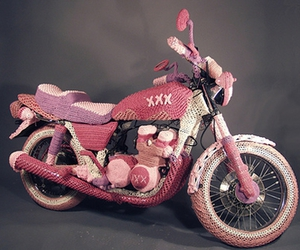 motorcycle and pink image
