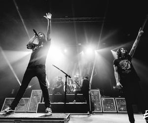 black and white, pierce the veil, and sleeping with sirens image