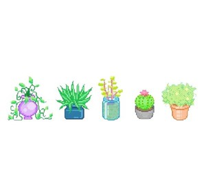 plants and pixel image