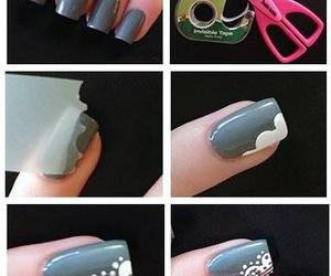 nails, nail art, and tutorial image