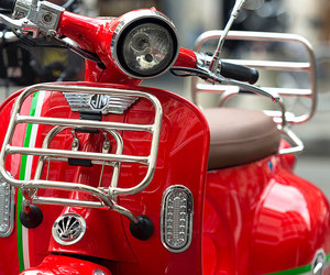 italy, moped, and red image