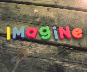 imagine and letters image