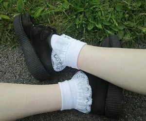 creepers, pale, and socks image