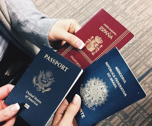 passport, travel, and grunge image