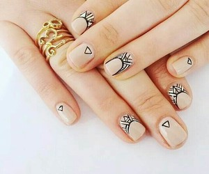 nail art, nude nails, and nude nail polish image