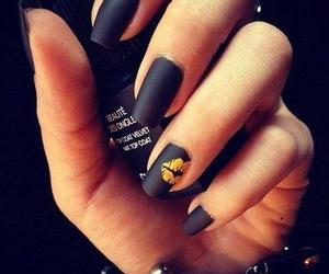 nails, black, and kiss image