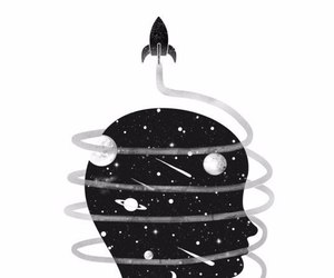 black, infinity, and space image
