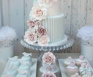 cake, wedding, and cupcake image