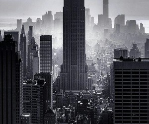 black, city, and wallpaper image