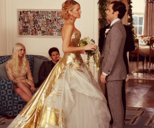 gossip girl, wedding, and serena image