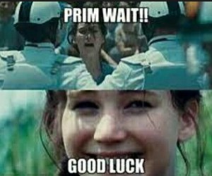 funny, prim, and hunger games image