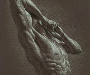 art, body, and charcoal image