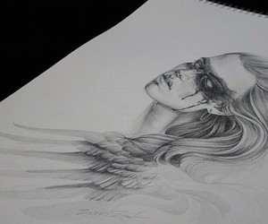 charcoal, drawing, and sketch image