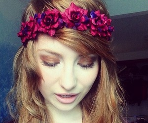 fashion, flowers, and flower crown image