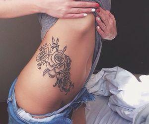 girl and tatoo image