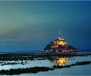 france, castle, and sea image