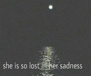 sad, sadness, and lost image