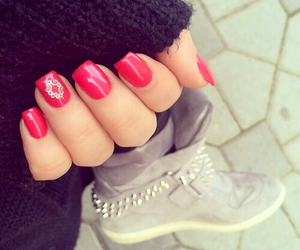 nails, heart, and lovely image