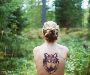 girl, tattoo, and green image