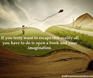 books, imagination, and open image