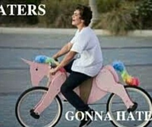 unicorn, haters, and hate image