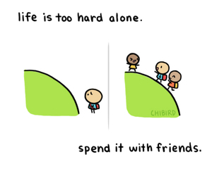 quotes, chibird, and friends image
