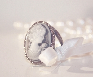 ring, white, and pearls image
