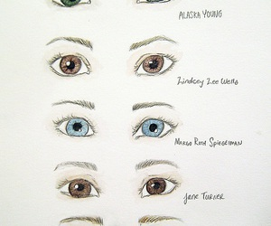 john green, book, and eyes image