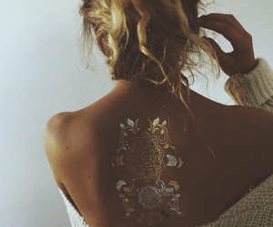blond, hair, and henna image