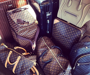 baggage, Louis Vuitton, and luggage image
