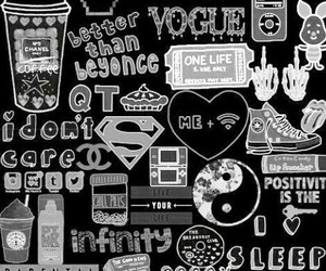 black and white and wallpaper image