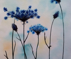 art, blue, and burdock image