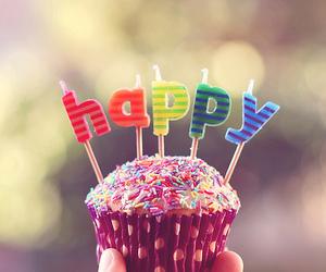 happy, cupcake, and birthday image