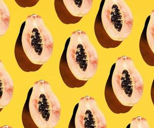 background, papaya, and wallpaper image