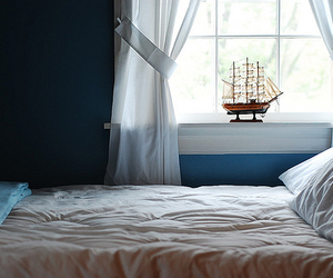 bed, ship, and window image