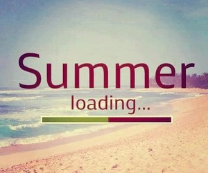 summer, loading, and beach image