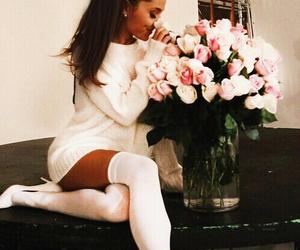 ariana grande, flowers, and ariana image