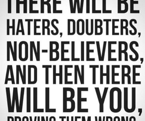 quotes, haters, and believe image