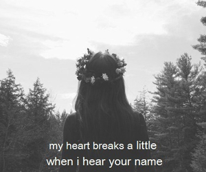 black and white, broken heart, and girl image