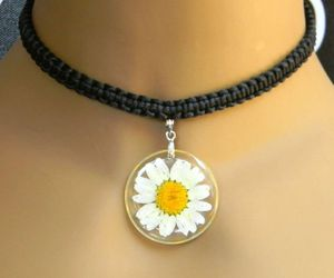 choker, close up, and daisy image