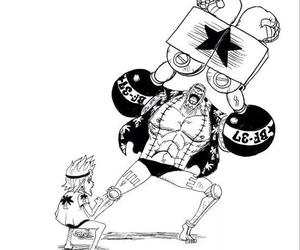 one piece, franky, and anime image