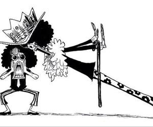 brook, one piece, and anime image