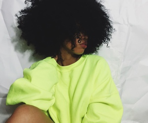 Afro, hair, and curls image
